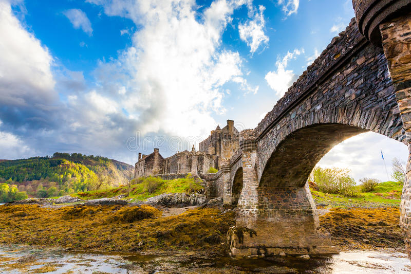Schottisches mittelalterliches Schloss lizenzfreies stockbild