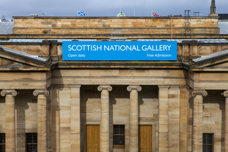 Schottisches National Gallery in Edinburgh lizenzfreies stockbild