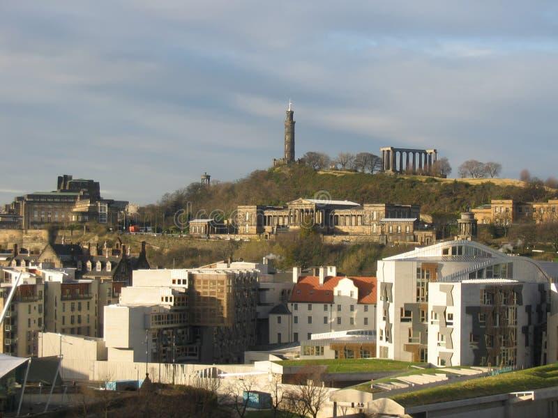 Schottisches Parlament, Edinburgh stockbilder