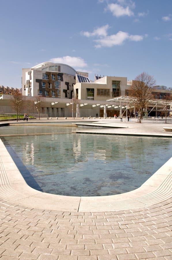 Schottisches Parlaments-Gebäude lizenzfreie stockbilder