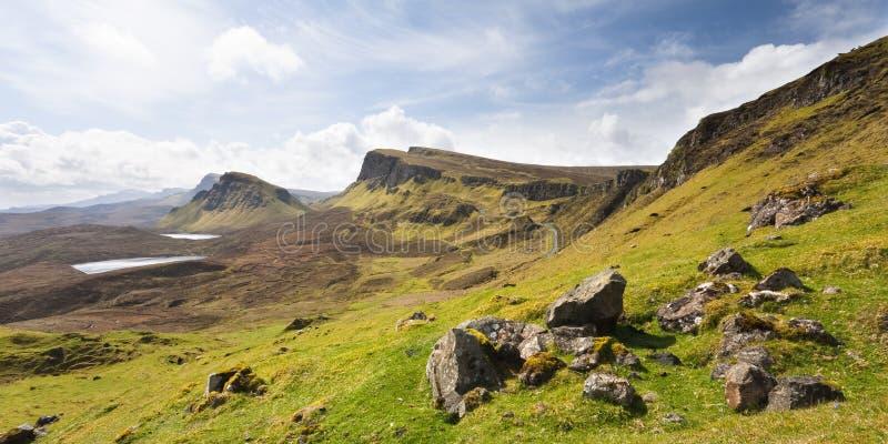 Schottland-D Quirang auf Insel von Skye lizenzfreies stockbild