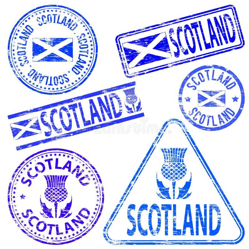 Schottland-Stempel lizenzfreie abbildung