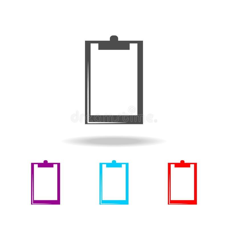 Schowek ikona Elementy sztuka wytłaczają wzory wielo- barwione ikony Premii ilości graficznego projekta ikona Prosta ikona dla st ilustracji