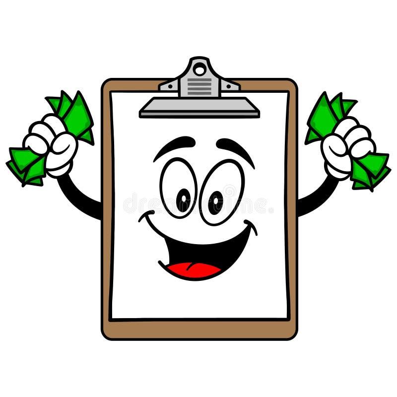 Download Schowek Maskotka Z Pieniądze Ilustracja Wektor - Ilustracja złożonej z dane, waluta: 53790263