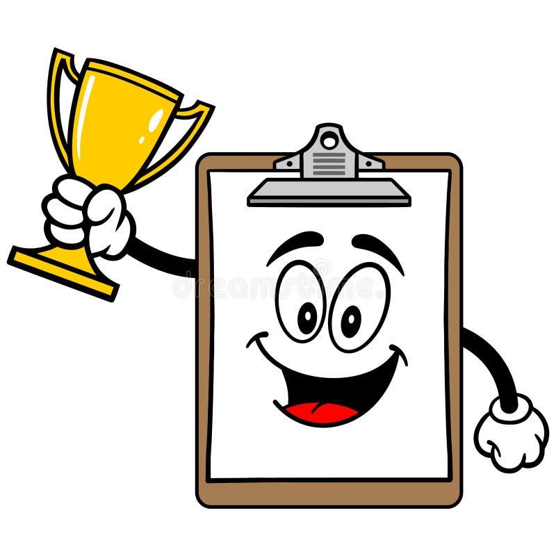 Download Schowek maskotka z trofeum ilustracja wektor. Ilustracja złożonej z ilustracje - 53790686