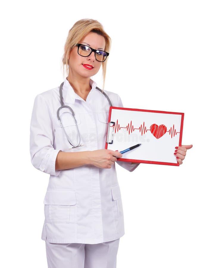 Schowek z kardiogramem zdjęcie royalty free