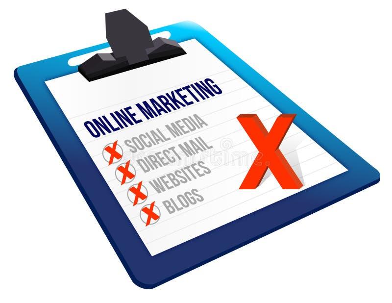 Schowków Online marketingowi narzędzia ilustracja wektor