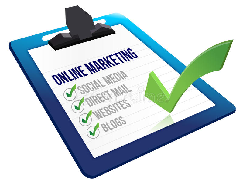 Schowków Online marketingowi narzędzia ilustracji