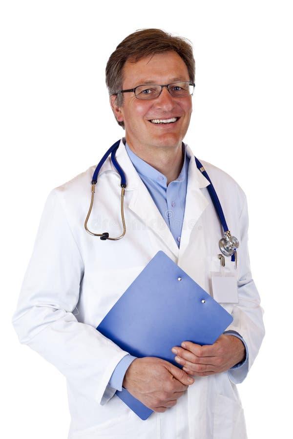 schowków uśmiechy doktorscy szczęśliwi medyczni zdjęcia stock