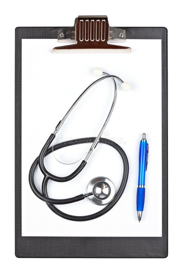 schowka medyczny pióra stetoskop zdjęcie royalty free