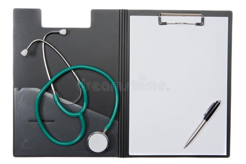 schowka stetoskop zdjęcie stock