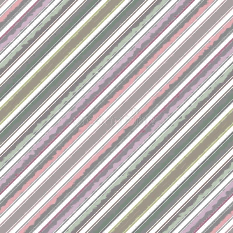 Schrägstreifenlinie Muster nahtlos, Gewebe geometrisch stock abbildung