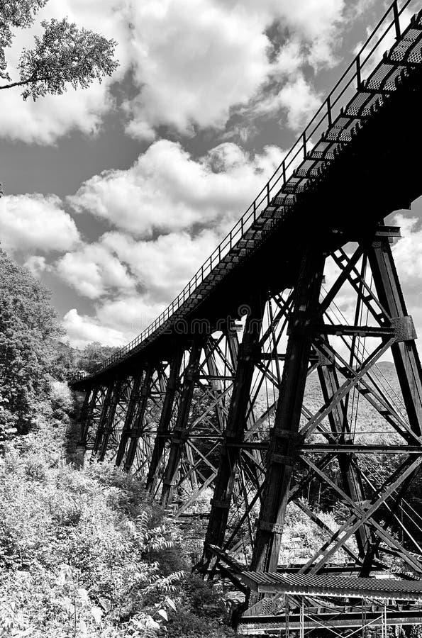 Schraagbrug stock afbeelding