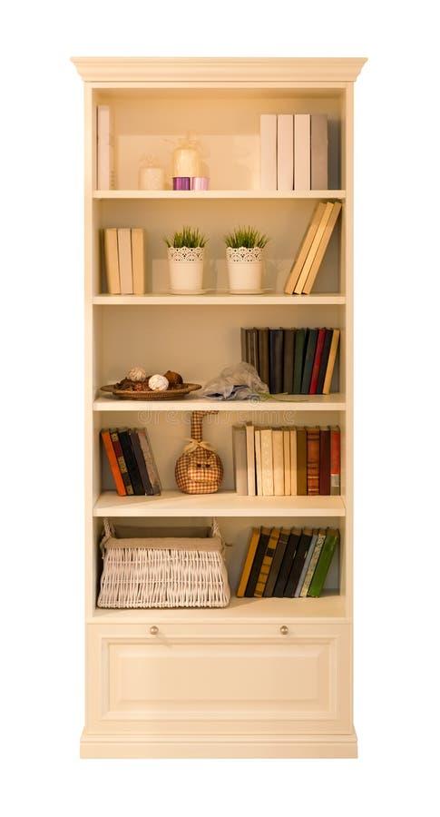 Schrank für Bücher stockbilder