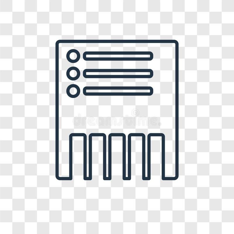 Schrap concepten vector lineair die pictogram op transparante backgr wordt geïsoleerd vector illustratie