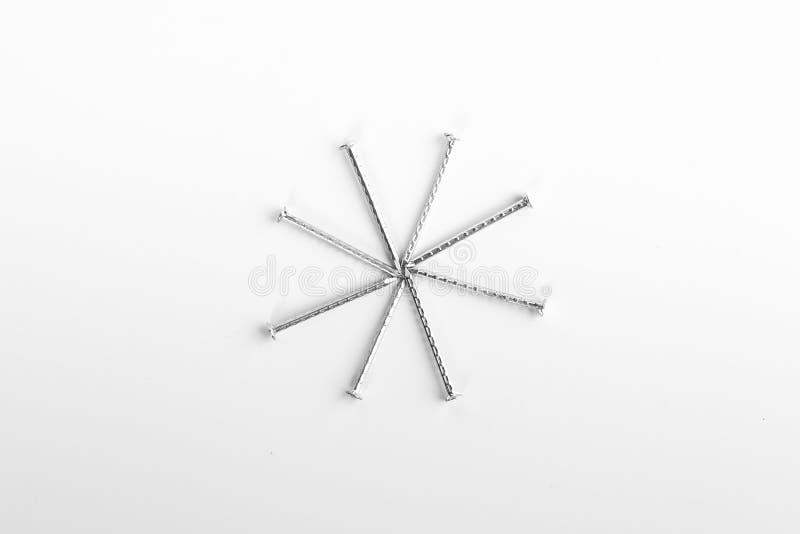 Schrauben und Nägel lizenzfreies stockbild