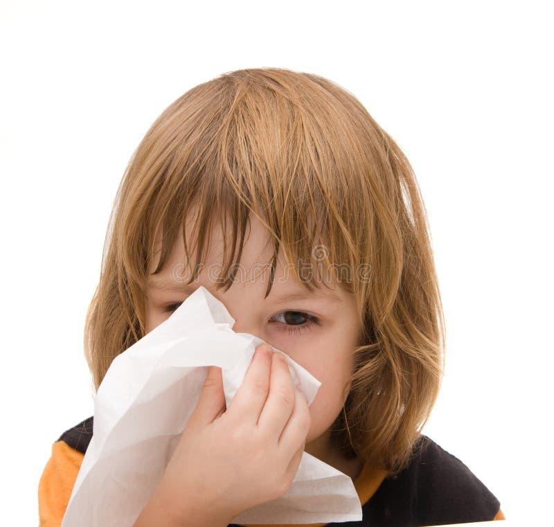 Schreckliche Grippe stockfoto