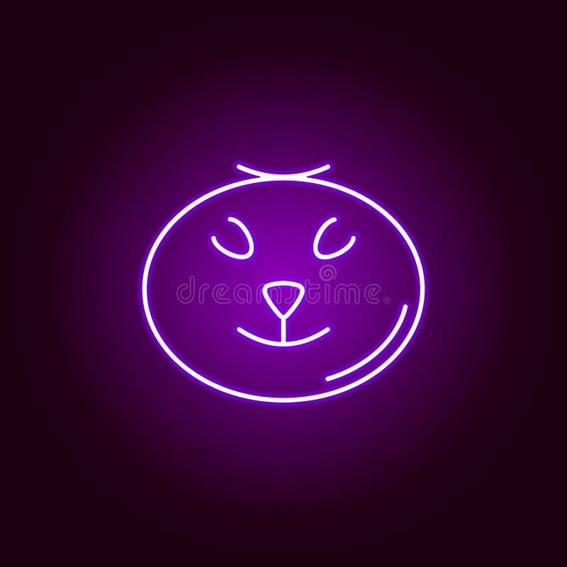 schreckliche Kürbisikone in der Neonart Element von Halloween-Illustration Zeichen und Symbolsammlungsikone f?r Website, Webdesig vektor abbildung