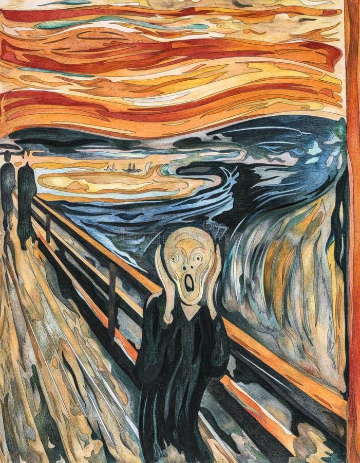 Schreeuw 1893 door Edvard Munch