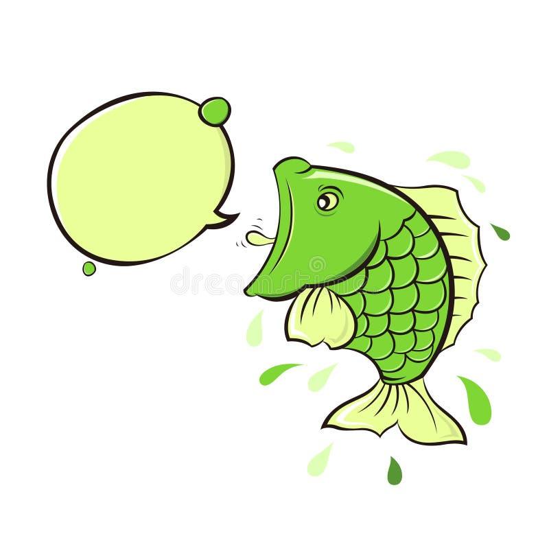 schreeuw van de vissen vector illustratie