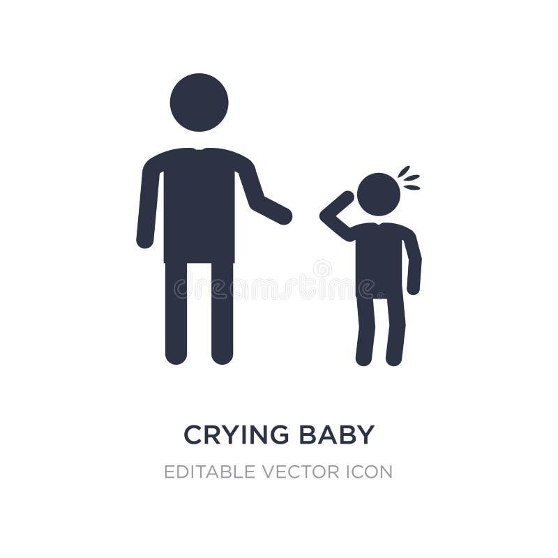 schreeuwend babypictogram op witte achtergrond Eenvoudige elementenillustratie van Mensenconcept vector illustratie