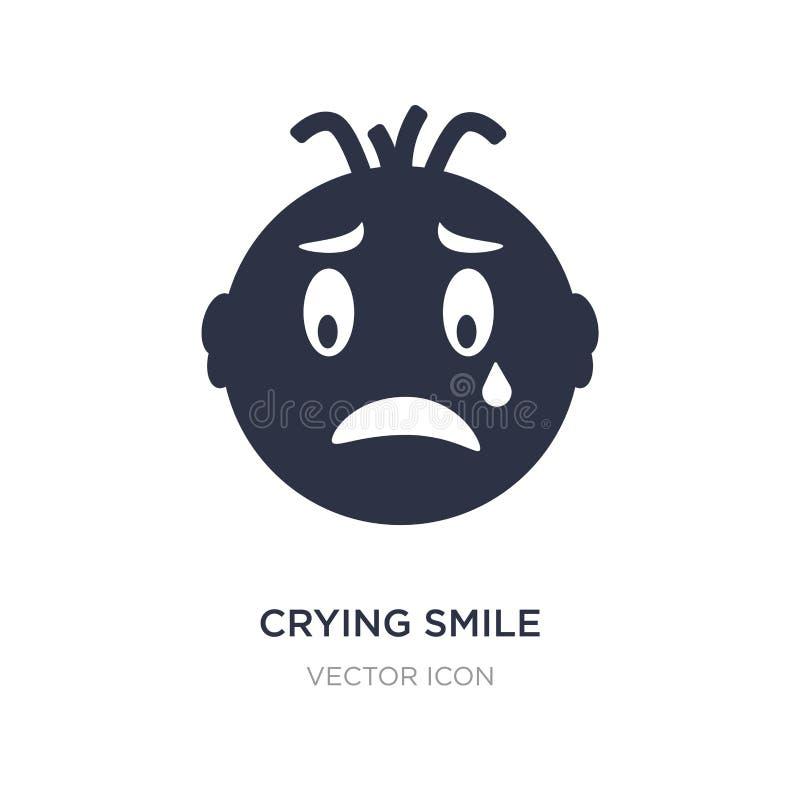 schreeuwend glimlachpictogram op witte achtergrond Eenvoudige elementenillustratie van UI-concept royalty-vrije illustratie