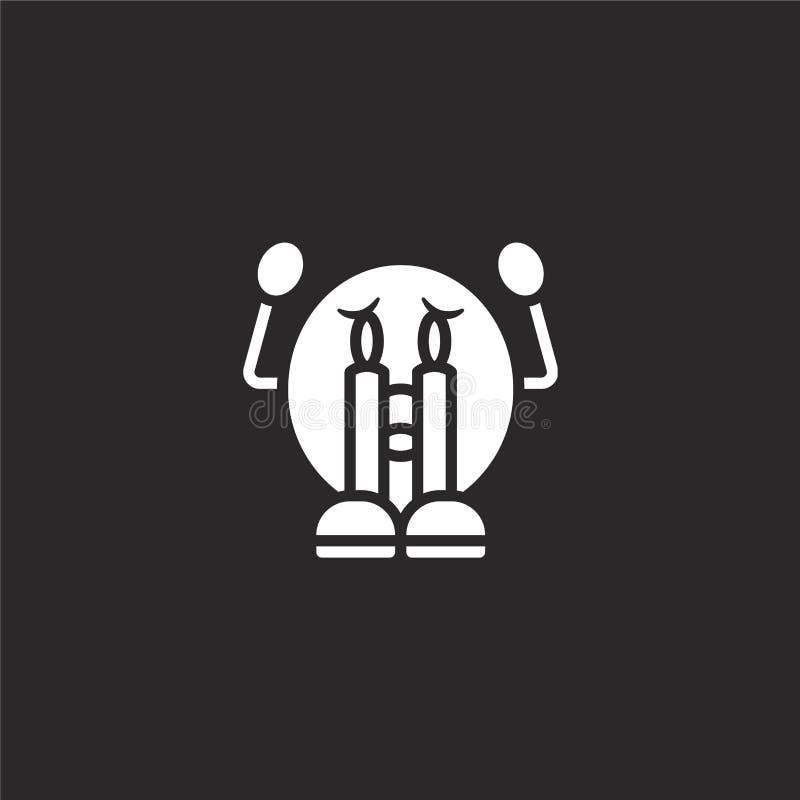 schreeuwend pictogram Gevuld schreeuwend pictogram voor websiteontwerp en mobiel, app ontwikkeling schreeuwend pictogram van de g stock illustratie