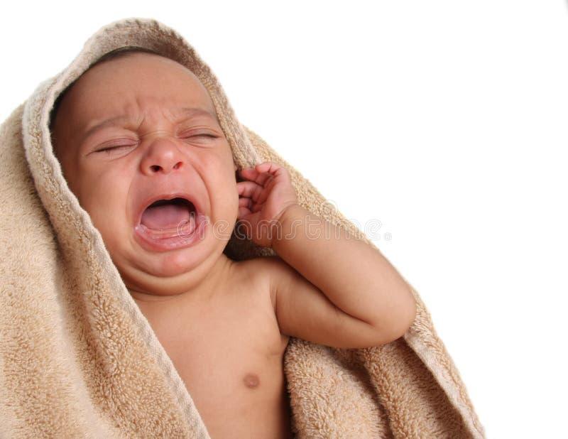 Schreeuwende baby stock afbeelding