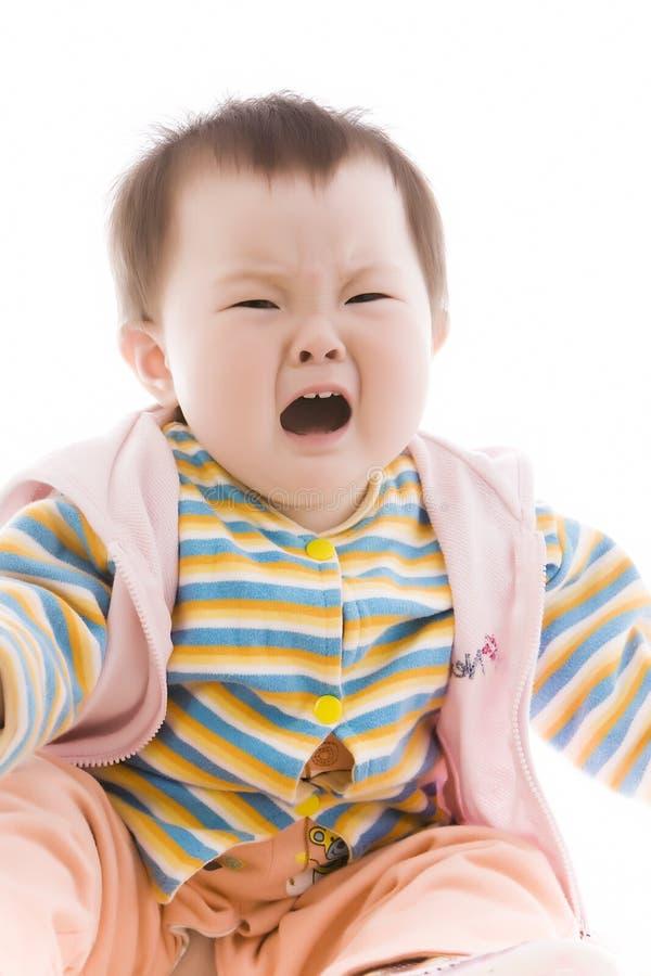 Schreeuwende baby stock foto's