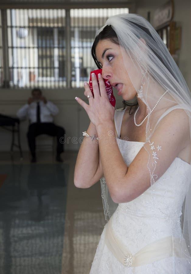 Schreeuwende bruid royalty-vrije stock fotografie