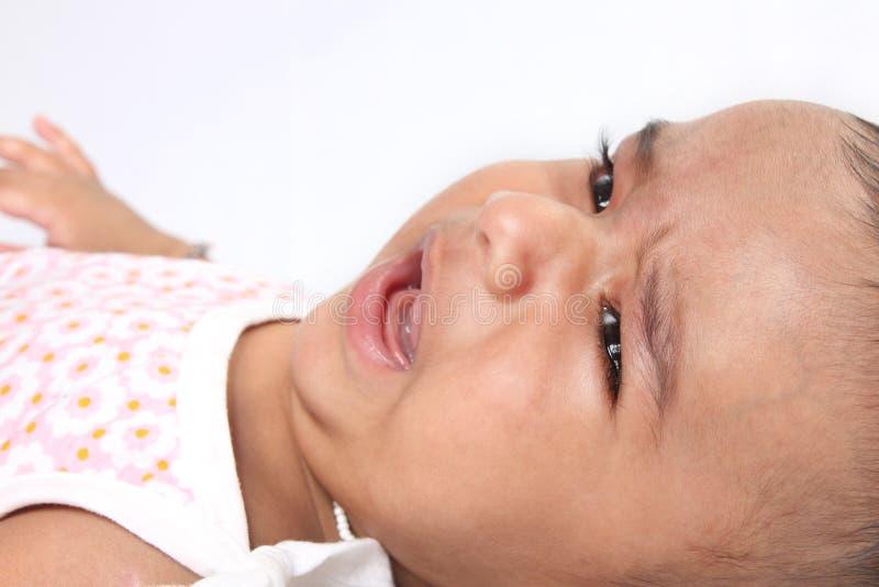 Schreeuwende Indische Baby royalty-vrije stock afbeeldingen