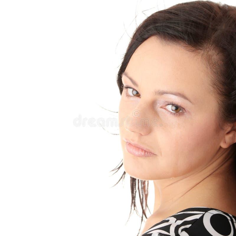Schreeuwende jonge vrouw royalty-vrije stock afbeelding