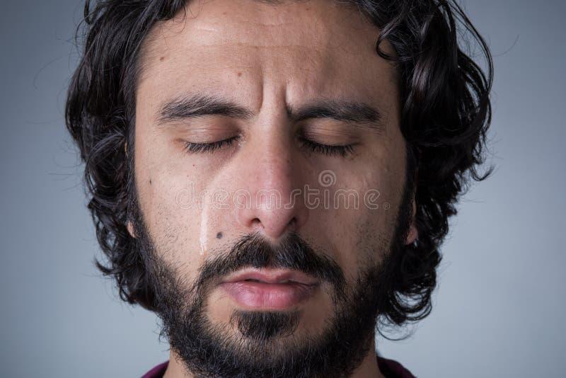 Schreeuwende Mens met Baard stock foto