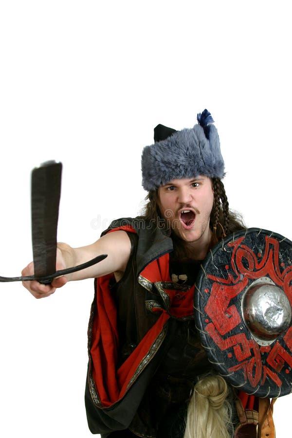 Schreeuwende Viking royalty-vrije stock foto