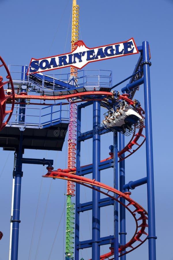 Schreeuwstreek in Luna Park, Coney Island, stock afbeelding
