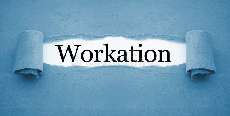 Schreibarbeit mit workation stockfotos