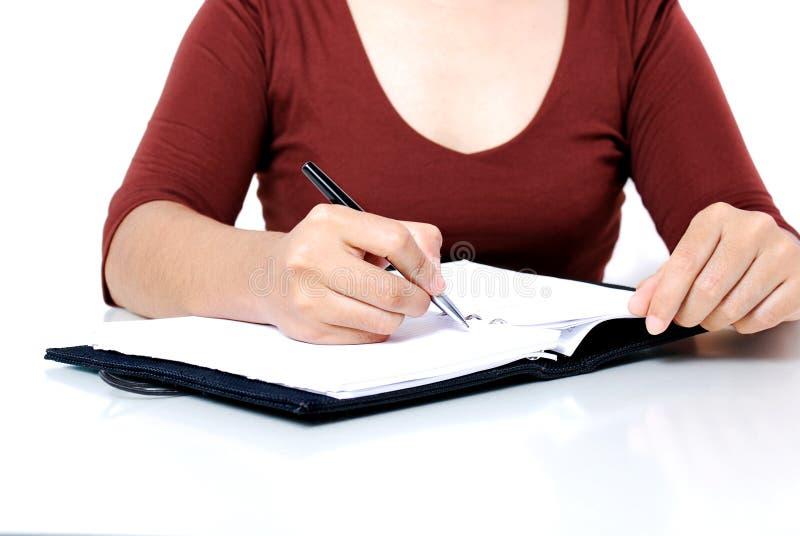 Schreiben lizenzfreies stockbild