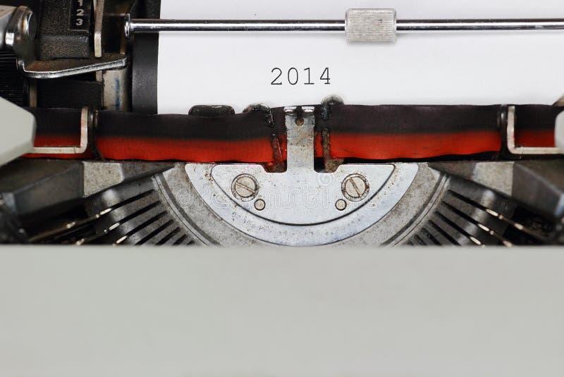 Schreiben 2014 lizenzfreie stockfotos