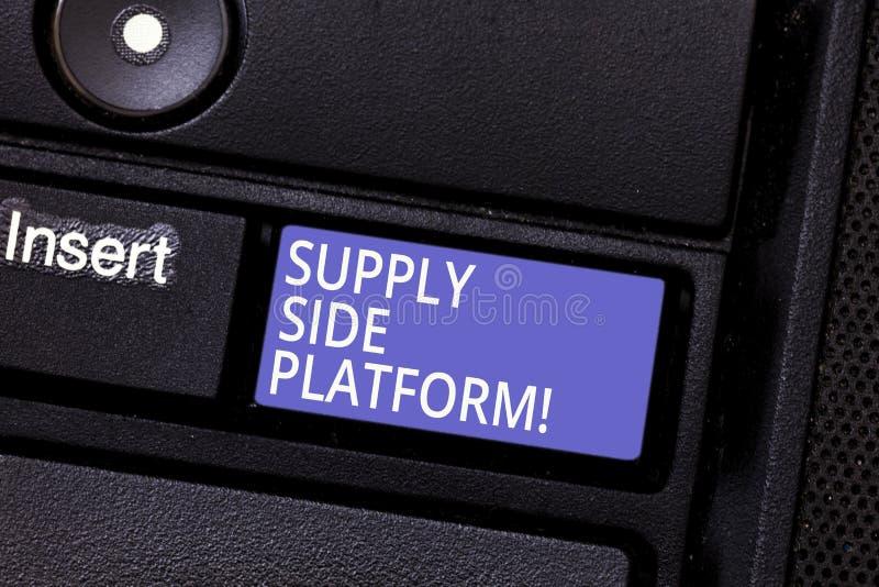 Schreiben der Anmerkung, die angebotsorientierte Plattform zeigt Geschäftsfoto Präsentationssoftware, die Anzeigen über einem aut stockfotos