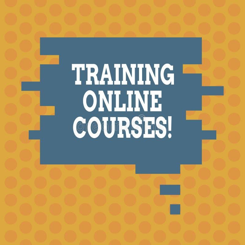Schreiben der Anmerkung, die ausbildende on-line-Kurse zeigt Zur Schau stellendes Geschäftsfoto, eine Reihe Lektionen an eine web vektor abbildung
