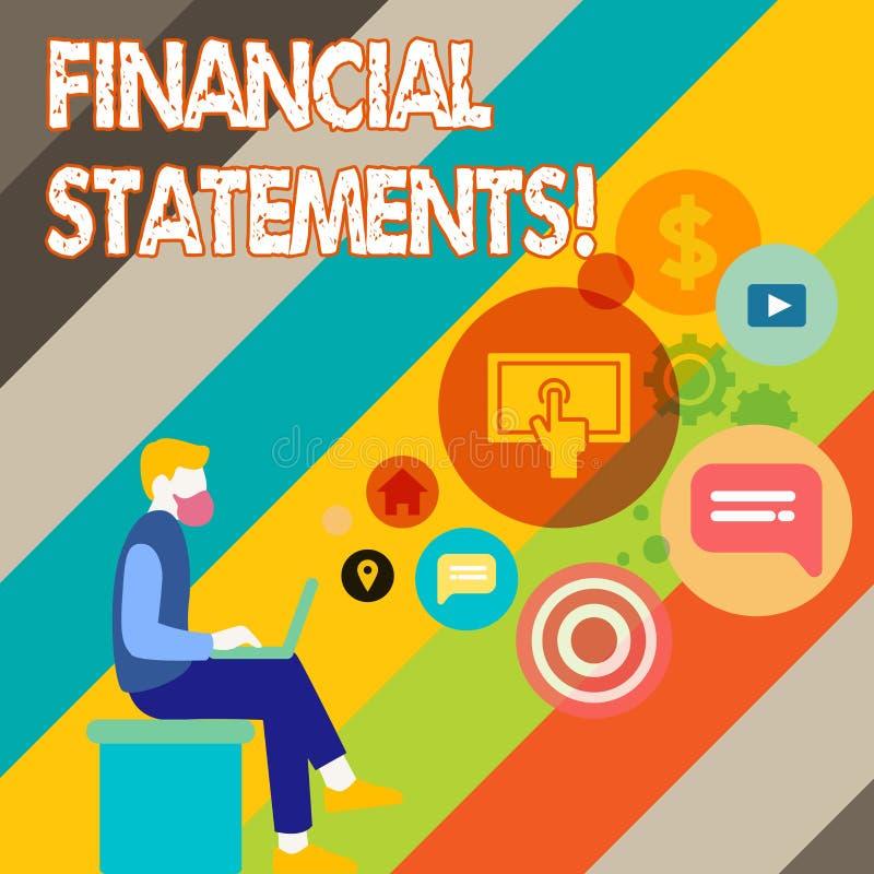 Schreiben der Anmerkung, die Finanztechnologie zeigt Geschäftsfoto, das Finanzdienstleistungen durch das Ausnutzen erbringend zu vektor abbildung