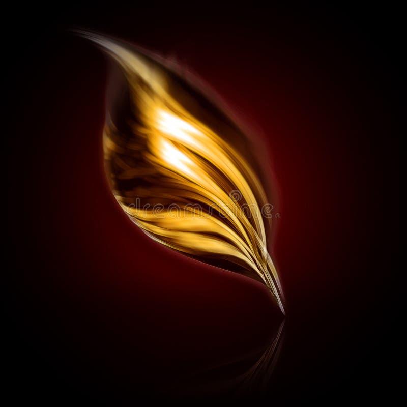 Schreiben der goldenen Feder lizenzfreie abbildung
