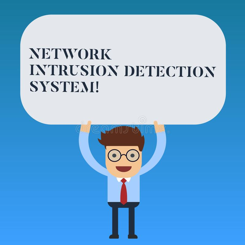Schreiben des Anmerkungsvertretung Netz-Eindringen-Erfassungssystems Geschäftsfoto Präsentationssicherheitssicherheits-Multimedia lizenzfreie abbildung