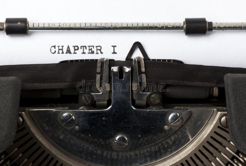 Schreiben des ersten Kapitels stockfotos