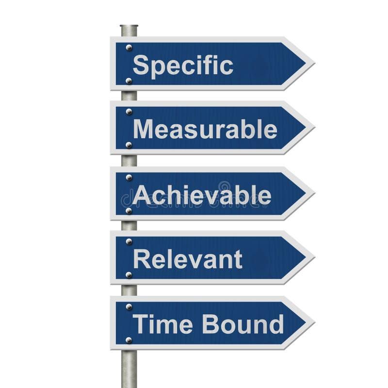 Schreiben Ihrer INTELLIGENTEN Ziele stock abbildung