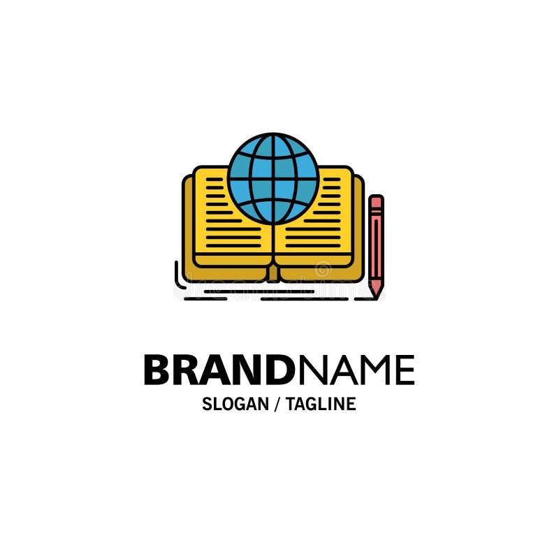 Schreiben, Roman, Buch, Geschichte, Theorie-Geschäft Logo Template flache Farbe lizenzfreie abbildung