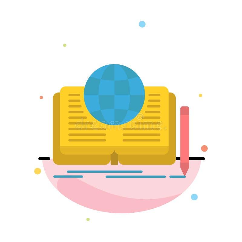 Schreiben, Roman, Buch, Geschichte, Theorie-Zusammenfassungs-flache Farbikonen-Schablone stock abbildung