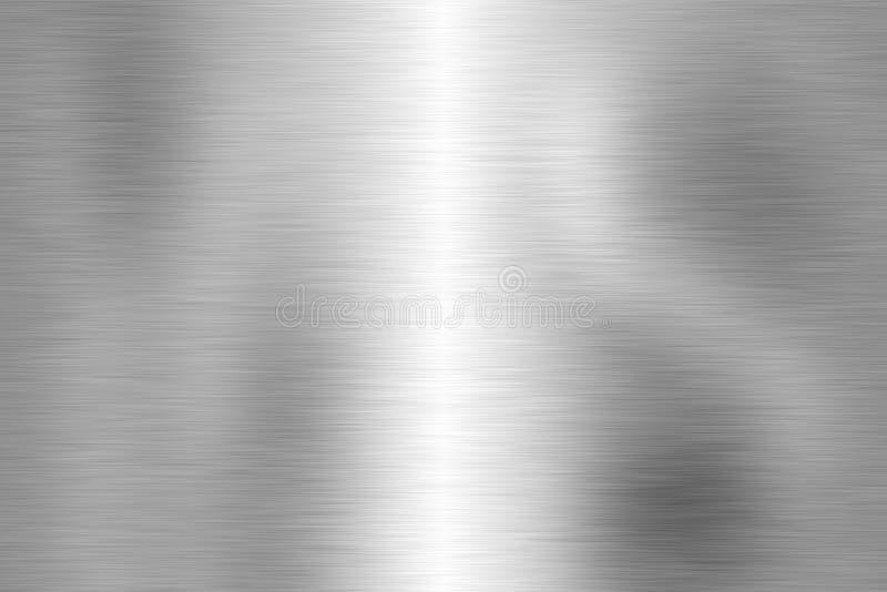 Schreiben Sie gebürstete Metallbaunahaufnahme stock abbildung