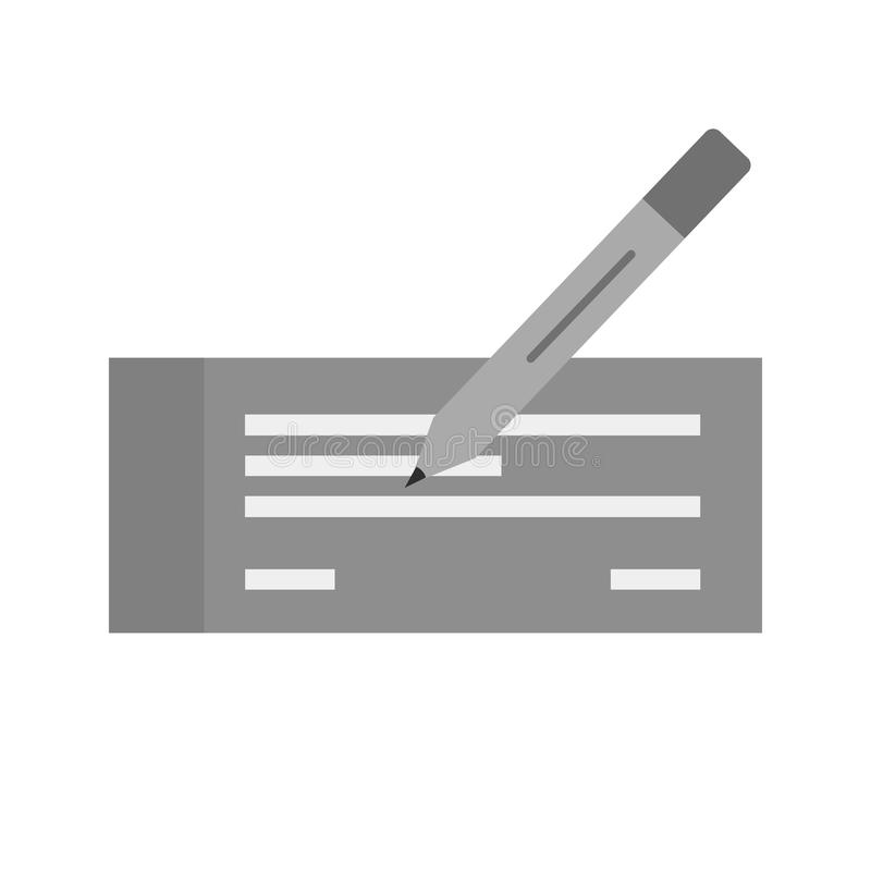 Schreiben Sie Scheck stock abbildung