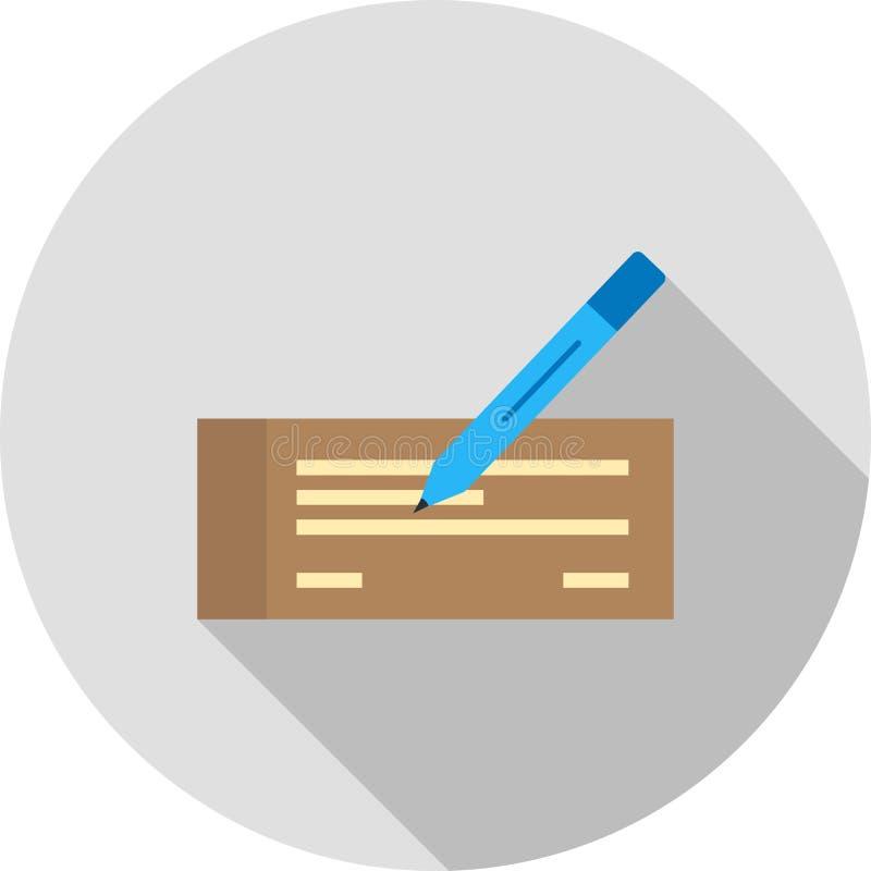 Schreiben Sie Scheck lizenzfreie abbildung